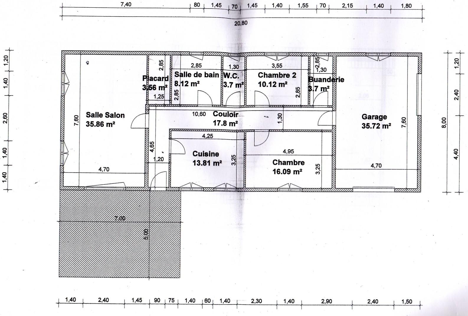 le plan de notre maison - Plan De Maison Rectangulaire